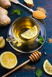 Cup of Ginger tea with lemon and honey Royalty Free Stock Photo