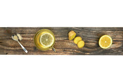 Cup of Ginger tea with lemon. Royalty Free Stock Photo