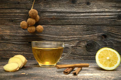 Cup of Ginger tea with lemon. Royalty Free Stock Photos
