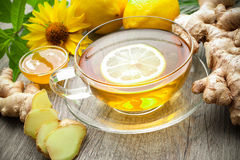 Cup of ginger tea Royalty Free Stock Images
