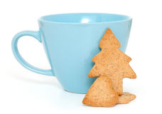 Cup with gingerbread cookies Stock Photography