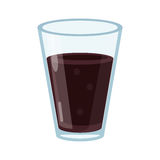 Cup glass coffee caffeine drink. Vector illustration eps 10 Stock Photography