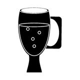 Cup glass refreshment cold liquid pictogram Royalty Free Stock Images