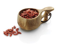 Cup of goji Stock Images