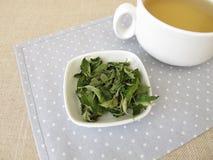 Goji leaves tea royalty free stock photo