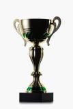 cup Goldener Cup des Siegers auf weißem Hintergrund Lizenzfreies Stockfoto