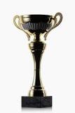cup Goldener Cup des Siegers auf weißem Hintergrund Stockbild