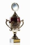cup Goldener Cup des Siegers lokalisiert auf weißem Hintergrund Stockbild