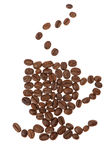 Cup from grains of coffee Stock Photos