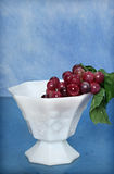 Cup of Grapes. Grapes in a white porcelain cup royalty free stock photo