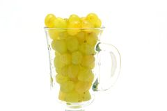 Cup of grapes Royalty Free Stock Image