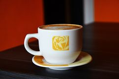 Cup of great coffee. Cup of coffee, so good stock photo