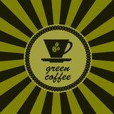 Cup of green  coffee . Royalty Free Stock Photos