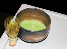 Cup of green japanese tea Royalty Free Stock Photography