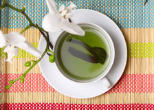 Cup of green tea. Stock Images