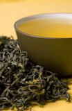 Cup of green tea Stock Images