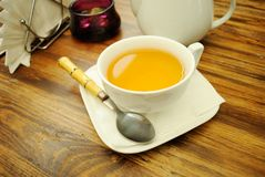 A cup of green tea. Stock Image