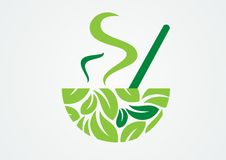 Cup of green tea. Vector illustration of a cup of green tea Stock Images