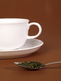 A cup of green tea stock images