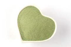 Cup of green tea heart. Stock Photo
