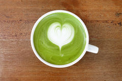 A cup of green tea matcha latte Royalty Free Stock Image