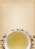 Cup of green tea Royalty Free Stock Images