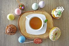 Tea and sweets royalty free stock photography