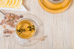Cup of green tea Stock Photo