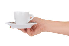 Cup in hand Royalty Free Stock Image
