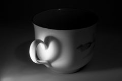 Cup with a handle Stock Photo