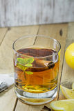 Cup of Healthy Tea over wood background Stock Images