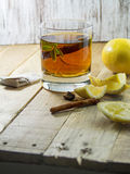 Cup of Healthy Tea over wood background Stock Photography