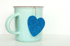 Cup with Heart Royalty Free Stock Photo