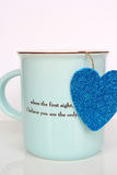 Cup with Heart Stock Image