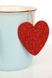 Cup with Heart Royalty Free Stock Photography
