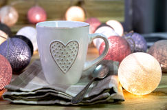 Cup with heart Royalty Free Stock Photos