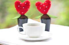 Cup and Heart shape Stock Image