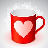 Cup with Heart Symbol Stock Photography