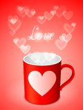 Cup with Hearts Royalty Free Stock Image