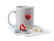 Cup with hearts Royalty Free Stock Photos
