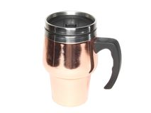 Cup with heat protection-thermos coffee. Royalty Free Stock Photo