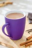 Cup heiße Schokolade Stockfotografie