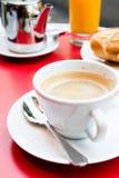 Cup heißer Kaffee Stockfoto