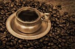 Cup heißer Kaffee Lizenzfreies Stockfoto