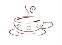 Cup heißes frisches cofee, vecor Abbildung Lizenzfreie Stockbilder
