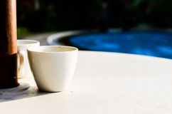 A Cup. Hello A Cup with relaxing time in the morning Royalty Free Stock Image