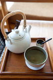 A cup of herbal chinese tea Stock Images