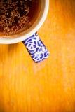 Cup of herbal or fruit tea, hot beverage Stock Image