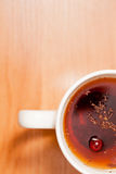 Cup of herbal or fruit tea, hot beverage Royalty Free Stock Photos