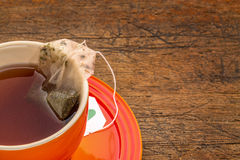 Cup of herbal green tea Stock Photography